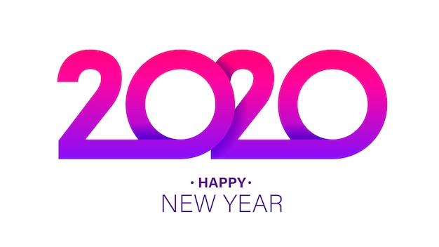 2020 new year insta style banner template minimalist xmas postcard layout