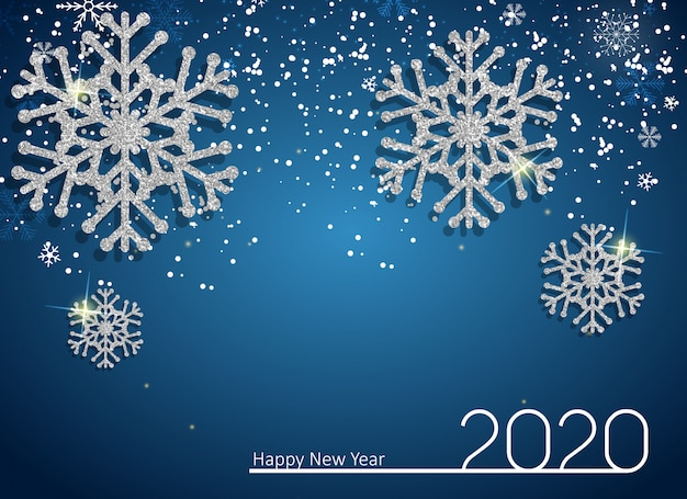 2020 new year and merry christmas background