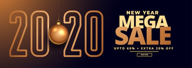 2020 new year sale and offer banner