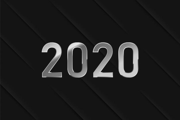 2020 number on black background