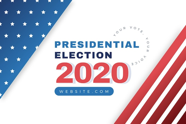 2020 us presidential election background style
