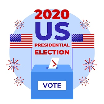 2020 us presidential election ballot in box
