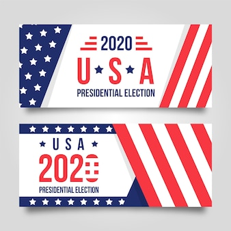 2020 us presidential election banner theme