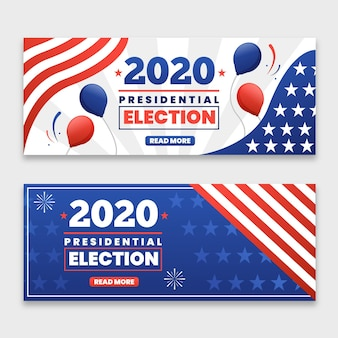 2020 us presidential election banners template