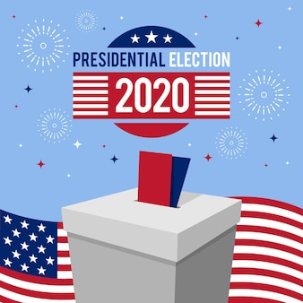 2020 us presidential election concept with fireworks