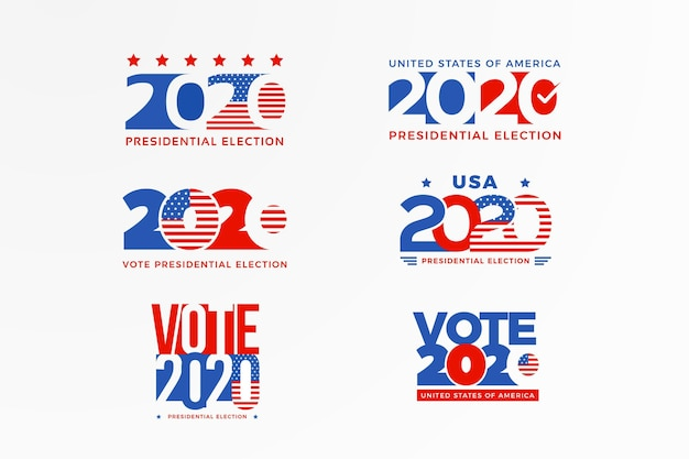 2020 us presidential election logo collection
