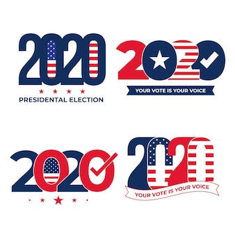 2020 us presidential election logo set