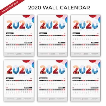 2020 wall calendar set