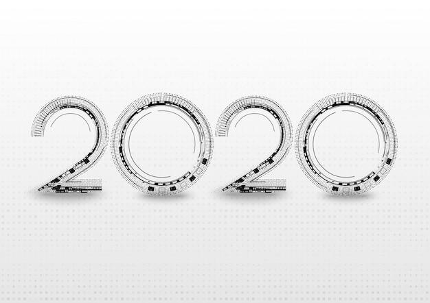 2020モダンな未来的な抽象的なフォント