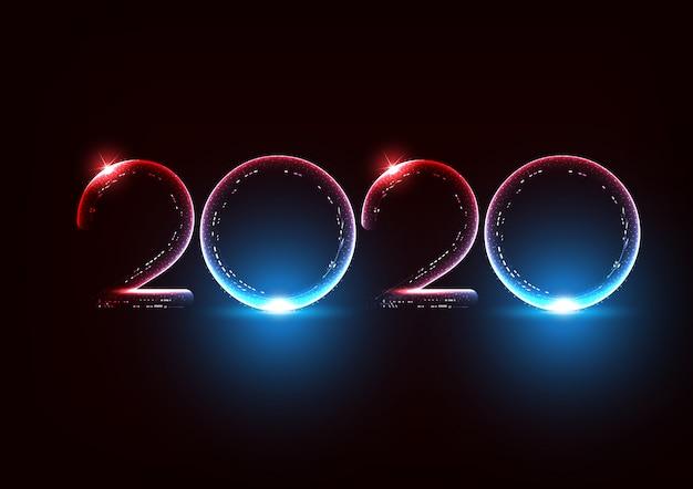 モダンな未来的な抽象的なネオンフォント2020