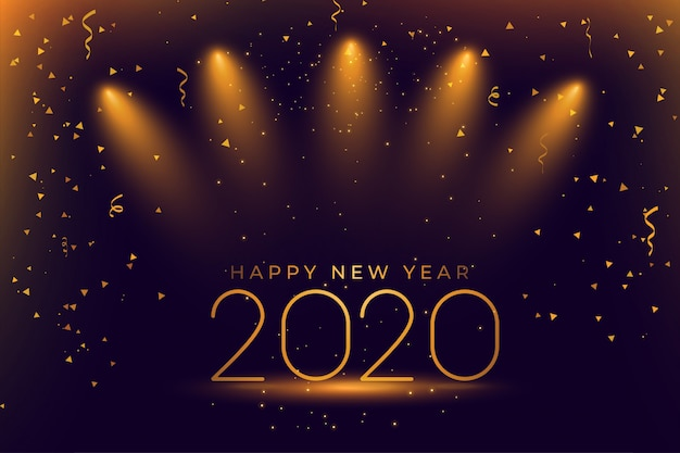 Празднование счастливого нового года 2020