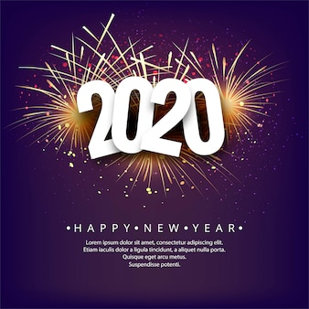 抽象的な2020年新年背景お祝いベクトル
