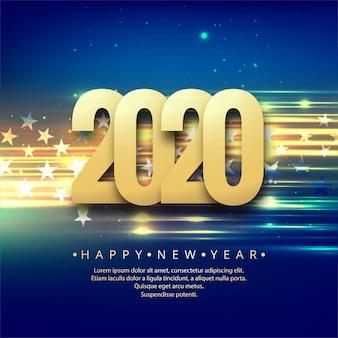 Празднование нового года 2020 красочным креативом