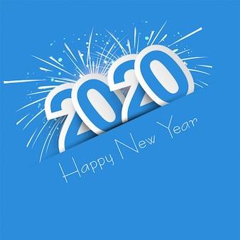 2020年の新年のお祝いの休日のカード