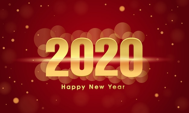 新年あけましておめでとうございます2020グリーティングカードデザイン