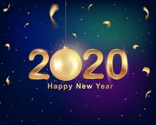 2020年の新年のグリーティングカード