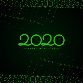 С новым годом 2020 зеленый текст фон