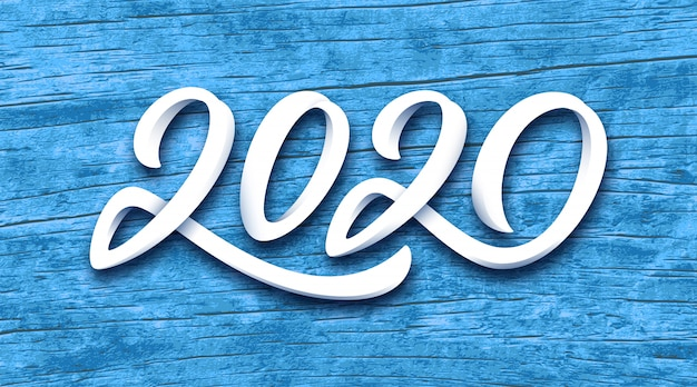新年あけましておめでとうございます2020ベクトルグリーティングカード