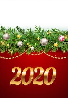 2020年新年の背景。