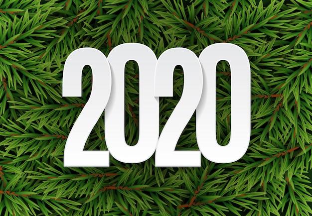 幸せな2020年新年の背景