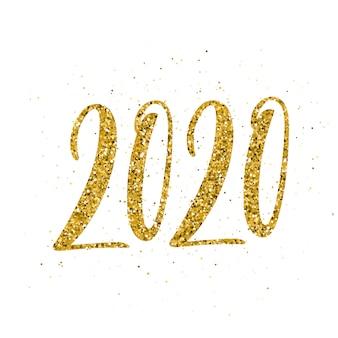 手描きのレタリングと幸せな新年2020。