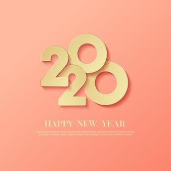 С новым годом 2020 логотип текст