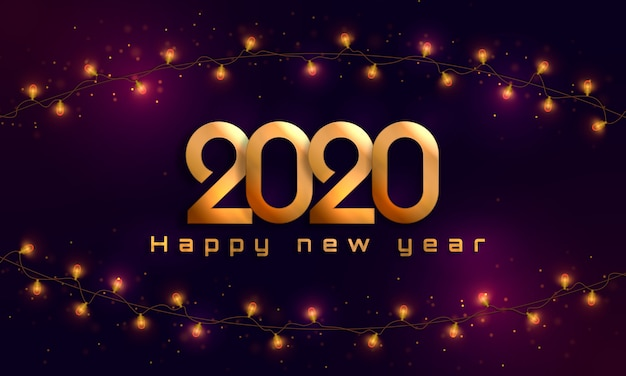 С новым 2020 годом. рождественские огни, лампочки, гирлянды.