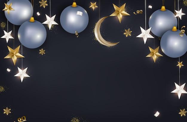 メリークリスマスと幸せな2020年新年のグリーティングカード
