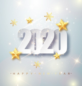 Открытка с новым годом 2020
