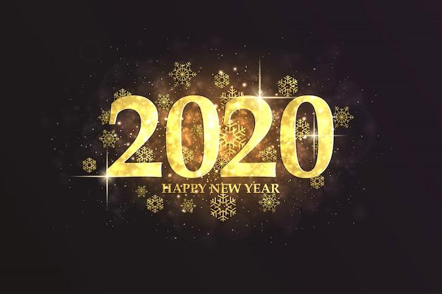 新年あけましておめでとうございます2020、豪華なグリーティングカード