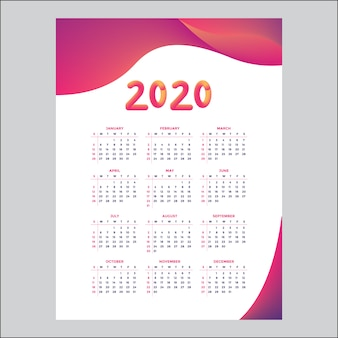 2020年のカレンダーのデザインコンセプト