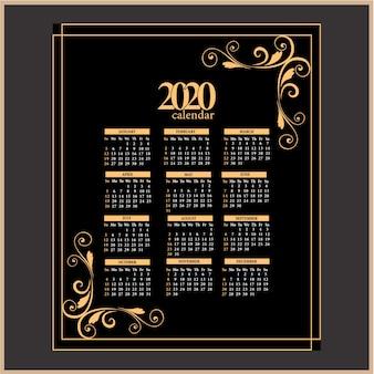 2020カレンダーヴィンテージカラー