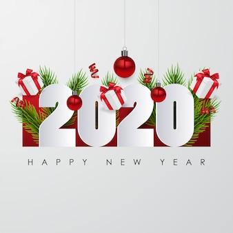 С новым 2020 годом. праздничный дизайн плаката или баннера