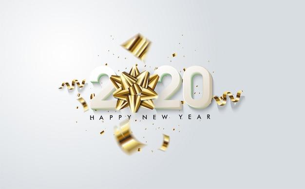 2020新年あけましておめでとうございますグリーティングカード