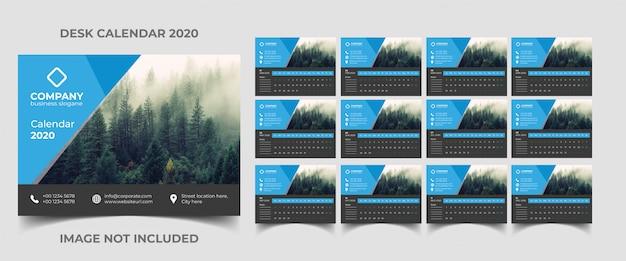 Шаблон настольного календаря 2020
