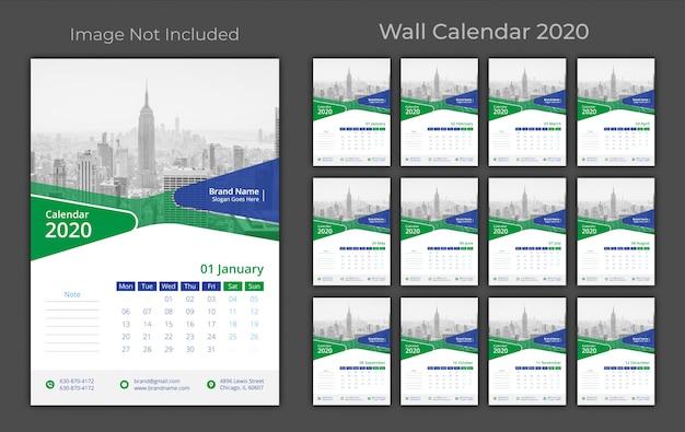 壁掛けカレンダー2020