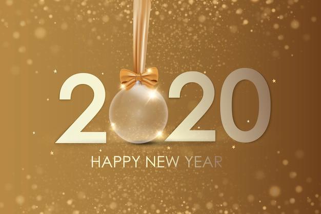 新年あけましておめでとうございます2020冬の休日のグリーティングカード
