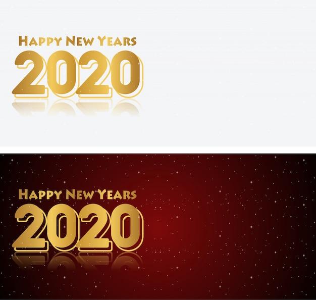 С новым годом 2020 красный черно-белый фон градации