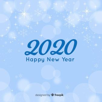 フラットデザインの新年2020