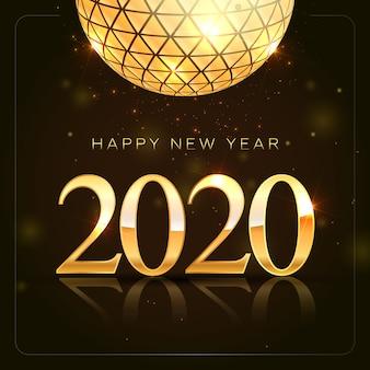 Золотой с блестками новый год 2020