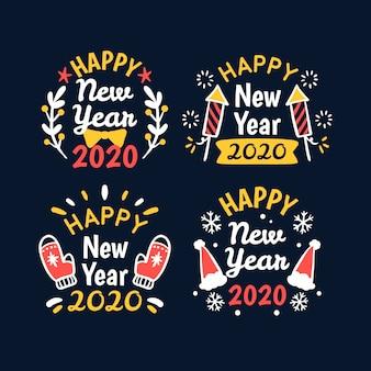 Ручной обращается новый год 2020 метка коллекции