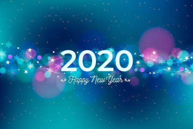 ぼやけた新年2020年の背景