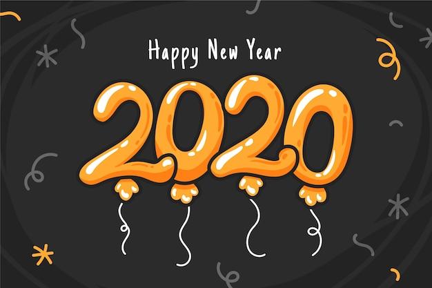 Ручной обращается новый год 2020 фон