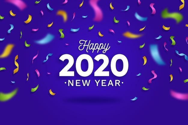 紙吹雪背景新年2020
