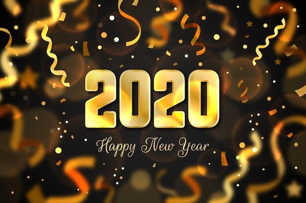 紙吹雪新年2020年背景