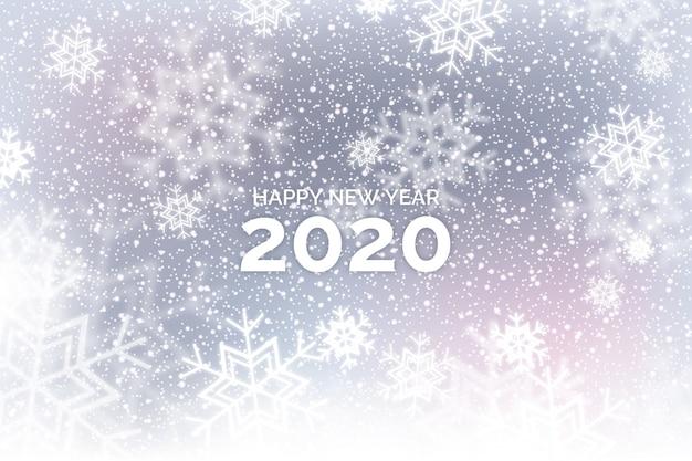 美しいぼやけた新年2020