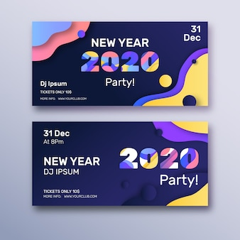 抽象的な新年2020パーティーバナー