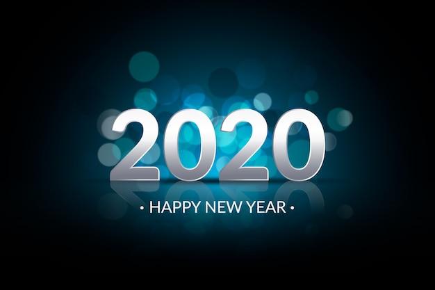 新年の2020年の背景がぼやけ