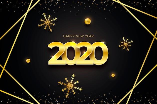 Золотой новый год 2020 фон