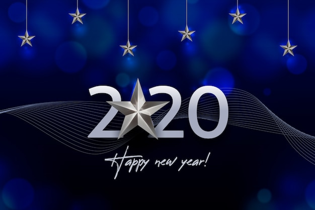 Серебряный новогодний фон 2020